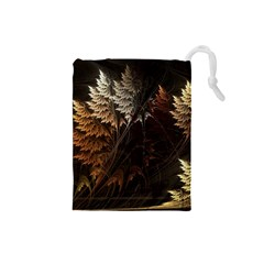 Fractalius Abstract Forests Fractal Fractals Drawstring Pouches (small)