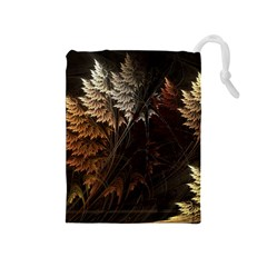 Fractalius Abstract Forests Fractal Fractals Drawstring Pouches (medium)