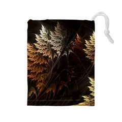 Fractalius Abstract Forests Fractal Fractals Drawstring Pouches (large)