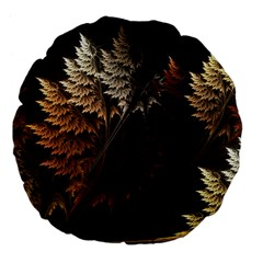 Fractalius Abstract Forests Fractal Fractals Large 18  Premium Flano Round Cushions