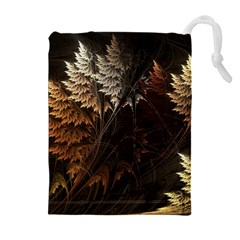 Fractalius Abstract Forests Fractal Fractals Drawstring Pouches (extra Large)