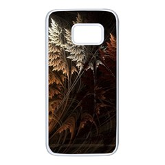 Fractalius Abstract Forests Fractal Fractals Samsung Galaxy S7 White Seamless Case