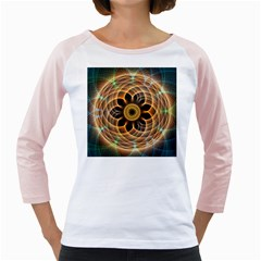 Mixed Chaos Flower Colorful Fractal Girly Raglans