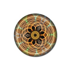 Mixed Chaos Flower Colorful Fractal Magnet 3  (round)