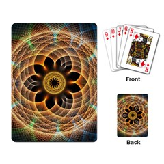 Mixed Chaos Flower Colorful Fractal Playing Card