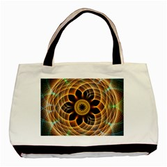 Mixed Chaos Flower Colorful Fractal Basic Tote Bag (two Sides)