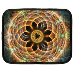 Mixed Chaos Flower Colorful Fractal Netbook Case (large)