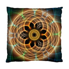 Mixed Chaos Flower Colorful Fractal Standard Cushion Case (one Side)