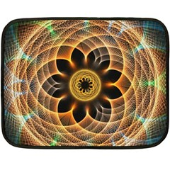 Mixed Chaos Flower Colorful Fractal Double Sided Fleece Blanket (mini)