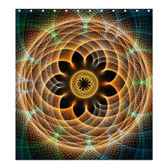 Mixed Chaos Flower Colorful Fractal Shower Curtain 66  X 72  (large)