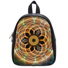 Mixed Chaos Flower Colorful Fractal School Bags (small)
