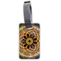 Mixed Chaos Flower Colorful Fractal Luggage Tags (one Side)