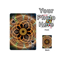Mixed Chaos Flower Colorful Fractal Playing Cards 54 (mini)
