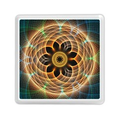 Mixed Chaos Flower Colorful Fractal Memory Card Reader (square)