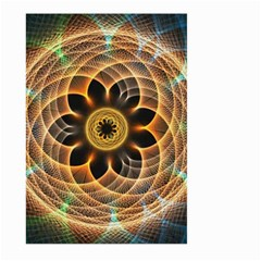 Mixed Chaos Flower Colorful Fractal Large Garden Flag (two Sides)