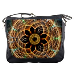 Mixed Chaos Flower Colorful Fractal Messenger Bags
