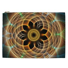 Mixed Chaos Flower Colorful Fractal Cosmetic Bag (xxl)