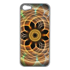 Mixed Chaos Flower Colorful Fractal Apple Iphone 5 Case (silver)