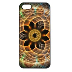 Mixed Chaos Flower Colorful Fractal Apple Iphone 5 Seamless Case (black)