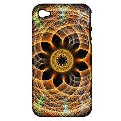 Mixed Chaos Flower Colorful Fractal Apple Iphone 4/4s Hardshell Case (pc+silicone)