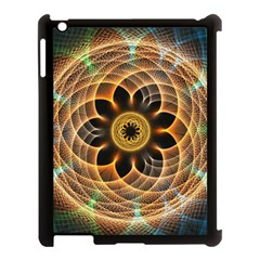 Mixed Chaos Flower Colorful Fractal Apple Ipad 3/4 Case (black)