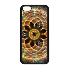 Mixed Chaos Flower Colorful Fractal Apple Iphone 5c Seamless Case (black)