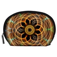 Mixed Chaos Flower Colorful Fractal Accessory Pouches (large)