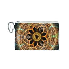 Mixed Chaos Flower Colorful Fractal Canvas Cosmetic Bag (s)