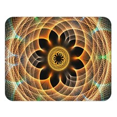Mixed Chaos Flower Colorful Fractal Double Sided Flano Blanket (large)