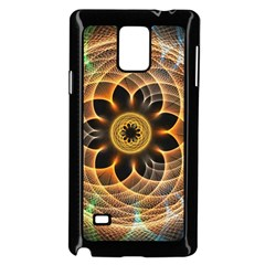 Mixed Chaos Flower Colorful Fractal Samsung Galaxy Note 4 Case (black)