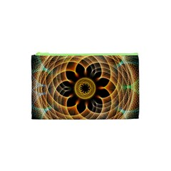 Mixed Chaos Flower Colorful Fractal Cosmetic Bag (xs)
