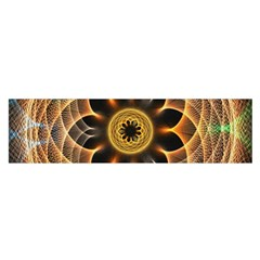 Mixed Chaos Flower Colorful Fractal Satin Scarf (oblong)
