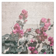 Shabby Chic Style Floral Photo Large Satin Scarf (square)