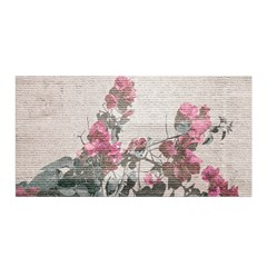 Shabby Chic Style Floral Photo Satin Wrap