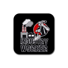 Industry Worker  Rubber Coaster (square)