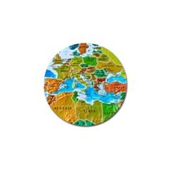 World Map Golf Ball Marker (10 Pack)