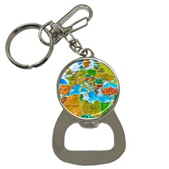 World Map Button Necklaces