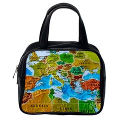 World Map Classic Handbags (one Side)