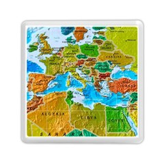 World Map Memory Card Reader (square)