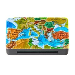 World Map Memory Card Reader With Cf