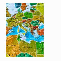 World Map Large Garden Flag (two Sides)