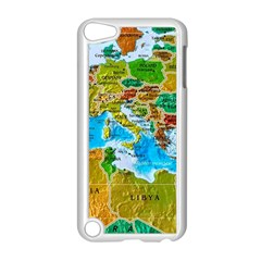 World Map Apple Ipod Touch 5 Case (white)