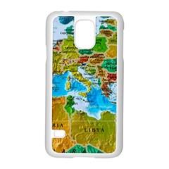World Map Samsung Galaxy S5 Case (white)