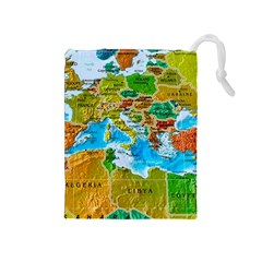 World Map Drawstring Pouches (medium)