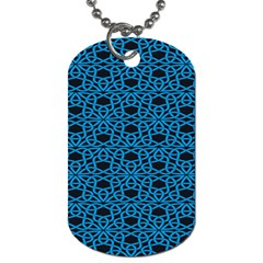 Triangle Knot Blue And Black Fabric Dog Tag (two Sides)