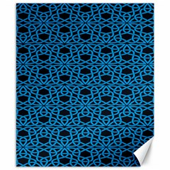 Triangle Knot Blue And Black Fabric Canvas 8  X 10