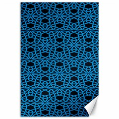 Triangle Knot Blue And Black Fabric Canvas 12  X 18