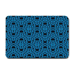 Triangle Knot Blue And Black Fabric Small Doormat