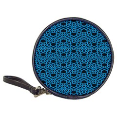 Triangle Knot Blue And Black Fabric Classic 20 Cd Wallets