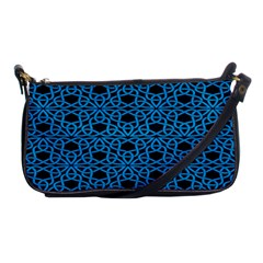 Triangle Knot Blue And Black Fabric Shoulder Clutch Bags